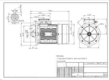 Elektromotor MS112 prevedenie B5