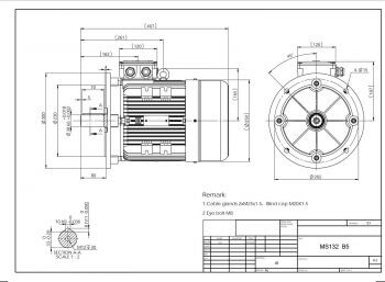 Elektromotor MS132 prevedenie B5