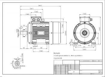 Elektromotor MS132S prevedenie B3