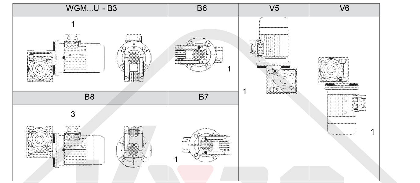 montážní poloha WGM 025