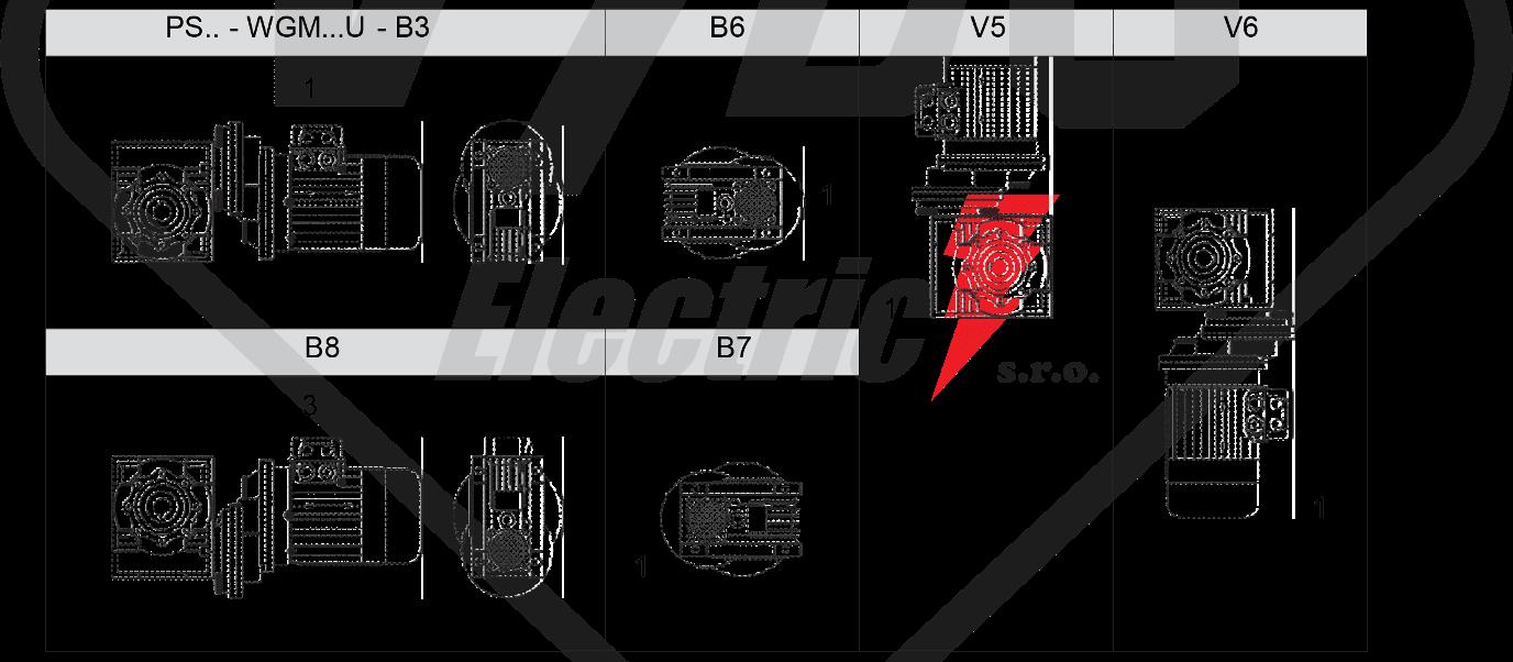 montážní poloha převodovka wgm075