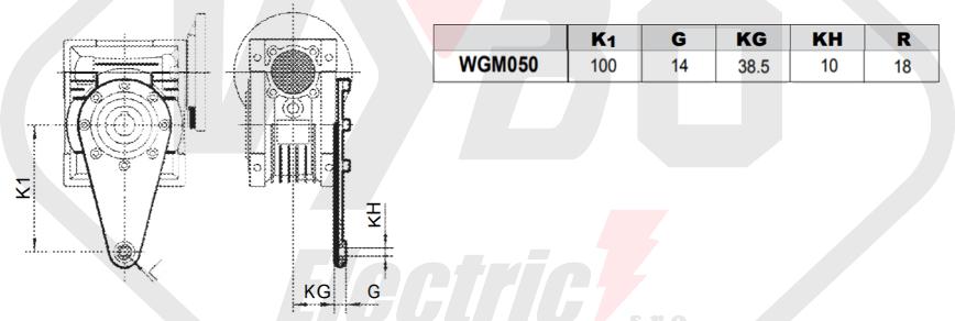 torzní rameno převodovka wgm050