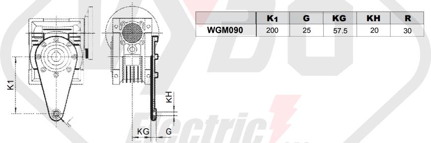 torzní rameno šneková převodovka wgm090