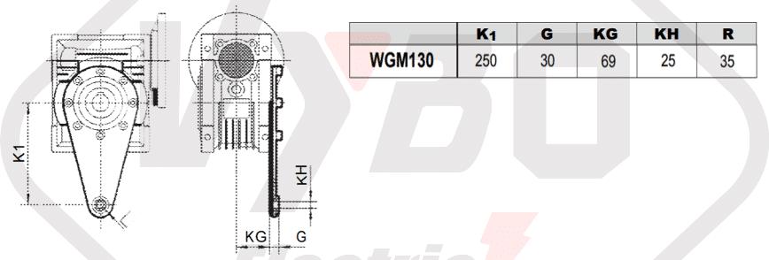 torzní rameno převodovka wgm130