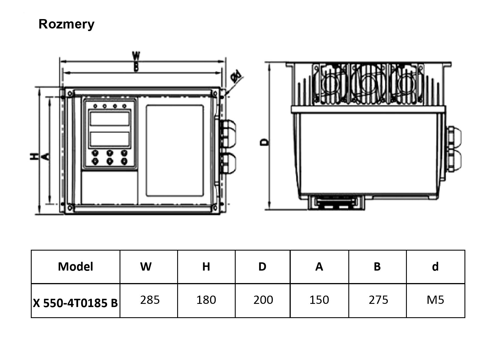 frekvenční měnič 18,5kw X550