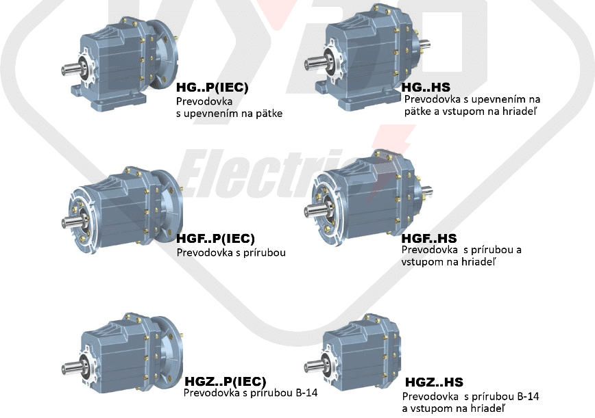 modely čelní převodovka HG01