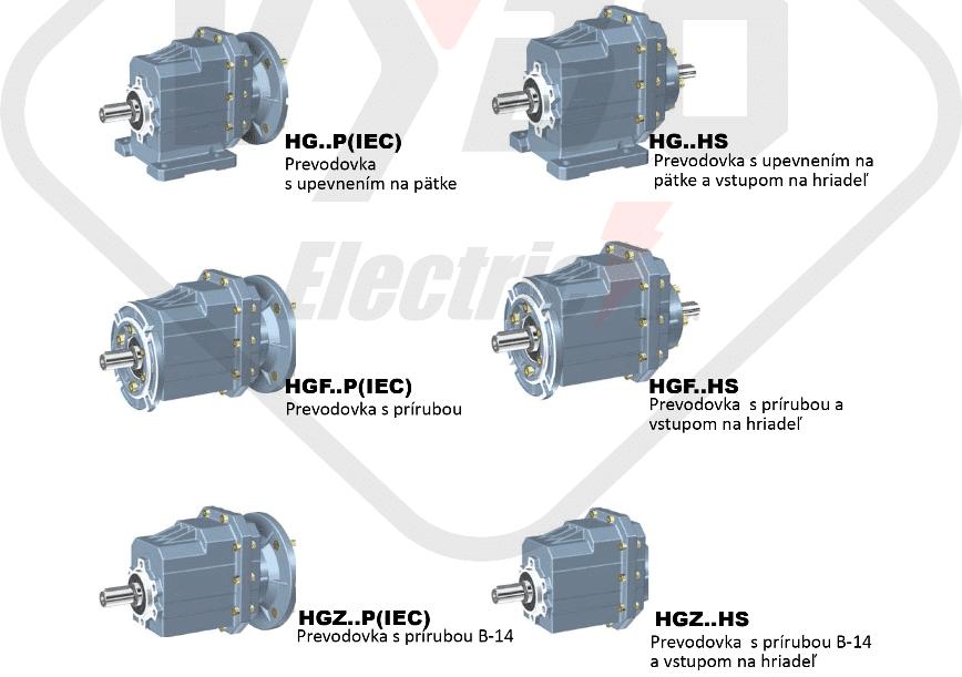 modely čelní převodovka HG04