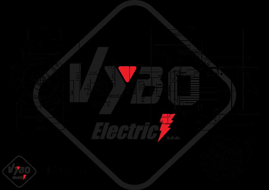 rozmerový výkres elektromotor 7.5 kw MS160-6